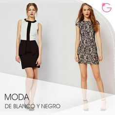 En blanco y negro, así puedes vestir en esta temporada para tus eventos casuales y formales #Moda Formal, Outfits, Dresses, Fashion, Seasons, Black And White, Events, Preppy, Vestidos