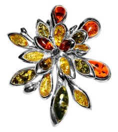 18-4g-Authentic-Baltic-Amber-925-Sterling-Silver-Pendant-Jewelry-A1730