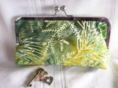 Indonesian batik clutch Polyester Satin, Clutches, Coin Purse, Aqua, Shapes, Make It Yourself, Texture, Yellow, Garden
