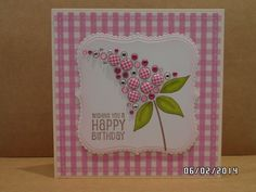 Woodware Bubble Bloom Felicity stamp used Card Making Inspiration, Making Ideas, Homemade Birthday Cards, Craftwork Cards, Candy Cards, Cards For Friends, Flower Cards, Hobbies And Crafts, Cardmaking