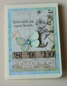 Live with an open heart by SouvenirdelaFrance on Etsy
