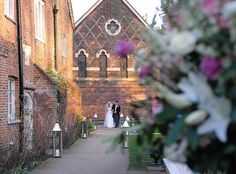 Fulham Palace Wedding Venue, Tait Chapel provides a dramatic backdrop for the Garden Marquee