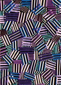 Purple lines - Sarah Bagshaw