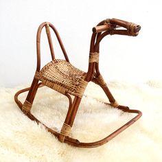 Mid Century Scandinavian Rocking Horse