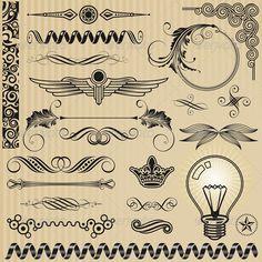 Set of Ornamental Design Elements #GraphicRiver Ornamental design elements and page decoration set. Created: 20July13 GraphicsFilesIncluded: JPGImage #VectorEPS #AIIllustrator Layered: Yes MinimumAdobeCSVersion: CS Tags: art #border #calligraphic #classical #corner #crown #deco #decoration #decorative #design #elegant #elements #frame #graphic #illustration #lightbulb #nostalgia #ornament #ornamental #panel #retro #scroll #set #sign #vector #wing