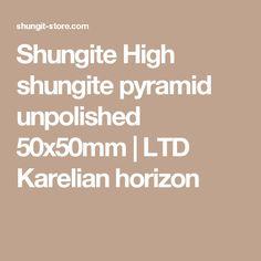 Shungite High shungite pyramid unpolished 50x50mm | LTD Karelian horizon