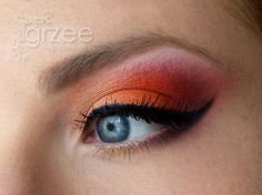 Eye makeup idea for Halloween 2013  My daughter wants to be a devil for Halloween, doing a less dramatic version