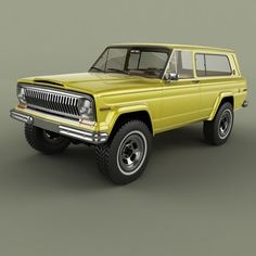 Cherokee Chief, Jeep Cherokee Xj, Willys Wagon, Jeep Wagoneer, Ford Galaxie, Jeep Gladiator, Jeep Truck, Road Runner, Ford Bronco