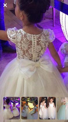 Kenai Kids Flower Girl Dresses, African Dresses For Kids, Girls Dresses Sewing, Baby Girl Party Dresses, Little Girl Dresses, Baby Birthday Dress, Birthday Dresses, Holy Communion Dresses, Baby Dress Patterns