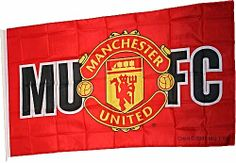 Manchester United MUFC with Club Crest Large Flag 5ft x 3ft