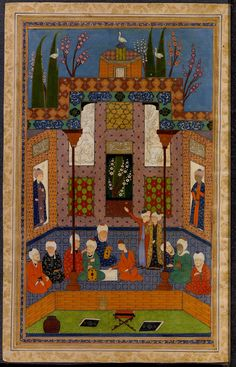 [Dīvān-i Ḥāfiẓ] Creator: Ḥāfiẓ, cent. Islamic Paintings, Princeton University, 16th Century, Persian, Oriental, Fine Art, Quilts, Digital, Iran