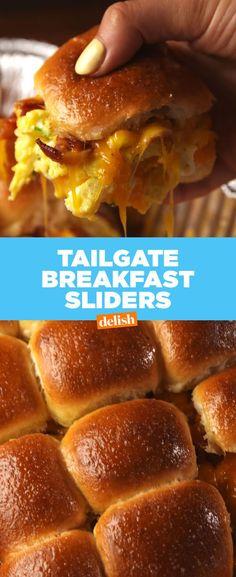 Tailgate Breakfast Sliders  - Delish.com
