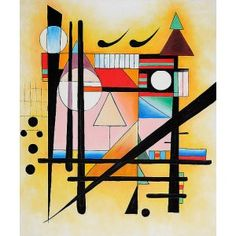Kandinsky - Untitled Oil Painting  www.OverArts.com