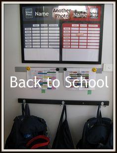 Back to School Organiser School Organisation, Organization, Getting Organized At Home, Launch Pad, Flylady, Struggle Is Real, School Photos, Organising, Creative Home