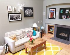 We love everything about this room. @ohsweetjoy has done a beautiful job, and I spy our Joshua 24:15 canvas on the wall!