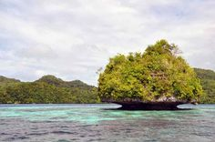 Palau is an archipelago of 250  islands in the western Pacific Ocean noteable for the peculiar mushroom shape of the islands.