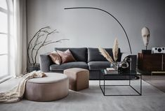 〚Soft and elegant Scandinavia in interiors by Jotex〛〛 Photos ◾Ideen◾ design - Interieur - Home Style - Living Room Colors, Living Room Sofa, Home Living Room, Living Room Furniture, Living Room Decor, Interior Design Living Room Warm, Home Interior Design, Living Room Designs, Interior Paint