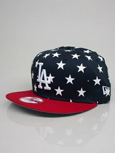 NEW ERA CAPS STAR CROWN 9FIFTY LOS ANGELES DODGERS Cappello Snapback - navy  - red - fc0fbd2a6f0e