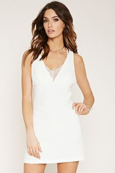 Contemporary Lace-Trim Dress | Forever 21 - 2000169602