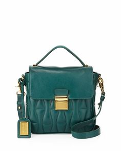 Blake Hourglass-Quilted Crossbody Bag, Forest by Badgley Mischka at Neiman Marcus Last Call.