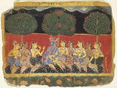 Krishna and the Gopis, Leaf from a Bhagavata Purana Series Date	between 1538 and 1542