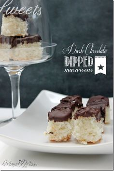 Dark Chocolate Dipped Macaroons