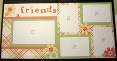 Stamp Til Dawn: Scrapbook layout using chin dotty for you paper.