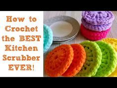 How to Crochet the BEST Kitchen Scrubber Ever! - YouTube