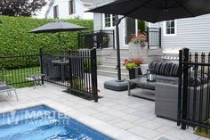 Fence Around Pool, Pool Fence, Backyard Pergola, Pool Landscape Design, Patio Design, Swimming Pools Backyard, Pool Landscaping, Garden Railings, Backyard Renovations