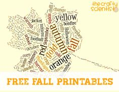 The Crafty Scientist  Free Fall Printables! 40b25e4d14