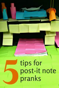 5 tips for decorating with post-it notes   5 tips for post-it note pranks