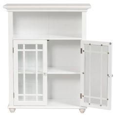 White-Stripe-2-door-Floor-Cabinet-Bathroom-Storage-Home-Furniture-Kitchen-Decor