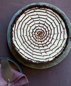 This no-bake spiderweb cheesecake from Martha Stewart is the best! A ...