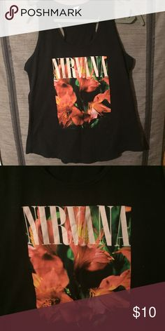 XL Nirvana Tank Graphic Nirvana tank with a loose fit Tops Tank Tops