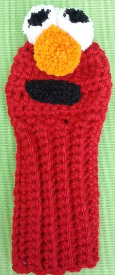 Golf Club Cover Elmo by CrochetedHeadwear on Etsy