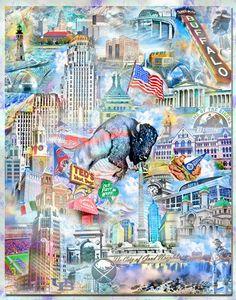 Buffalo New York Collage