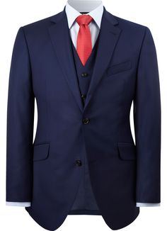 Contemporary Fit Blue Twill Jacket - All Jackets - Austin Reed