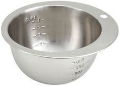 Winco 4-Cup Measuring Bowl, Stainless Steel > Save this wonderfull item : Mixing Bowls