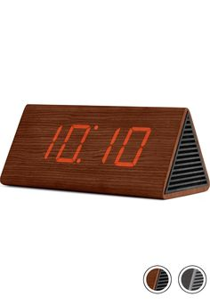 MADE Triangle Digital Alarm Clock & Bluetooth Speaker, Walnut. Express delivery. Odette Clocks Collection from MADE.COM...