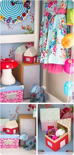 DIY Fabric Covered House Boxes by Craft & Creativity