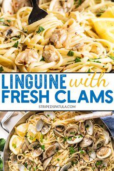 Linguine Recipes, Pasta Recipes, Cooking Recipes, Cooking Tips, Pasta Sauces, Clam Recipes, Seafood Recipes, Fish Recipes, Linguine And Clams