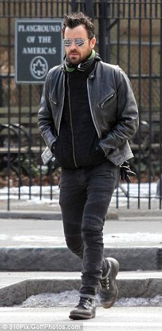 Aversion to slacks: Justin wears his tight-fitting jeans and rugged boots all year round because he can't stand 'breezy' clothing like slack...