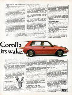Corolla Twincam, Toyota Corolla, Car Advertising, Motor Company, Repair Manuals, Engineering, Magazine, Cars, Autos
