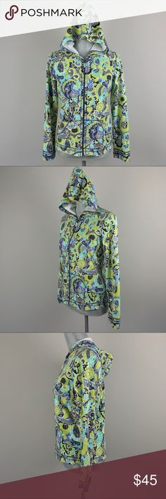 {Sigrid Olsen} Printed Zip Hoodie Jacket Condition: Excellent! Sigrid Olsen Jackets & Coats