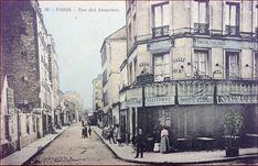 La rue des Alouettes vers 1905 (Paris 75019)