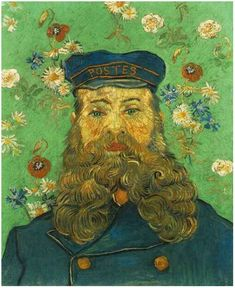 Portrait of the Postman Joseph Roulin Vincent Van Gogh Now in Milano - Palazzo Reale