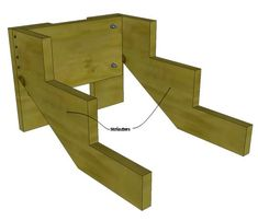 Custom stairs that can be used as rv stairs, free standing stairs, and deck stairs Deck Steps, Wood Steps, Wooden Steps Outdoor, Timber Stair, Stairs Stringer, Escalier Design, Building Stairs, Diy Rv, Diy Deck