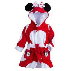Disney Minnie Maus Baby-M/ädchen Bademantel mit Kapuze und passenden Hausschuhen