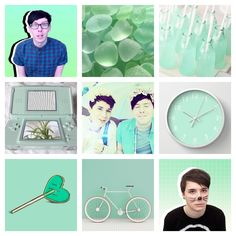 Dan and Phil mint green authentic