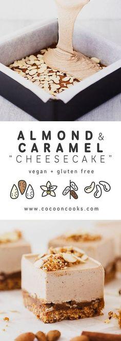 Dairy-Free Roasted Almond & Salted Caramel Cheesecake Recipe